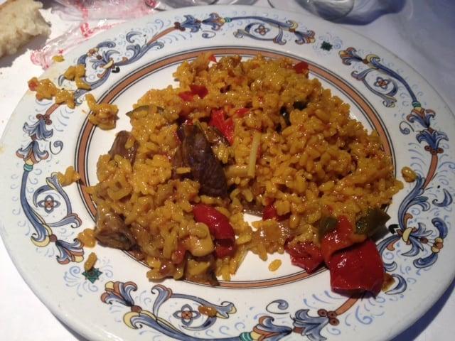 Arroz de verduras en Restaurante La Pequeña